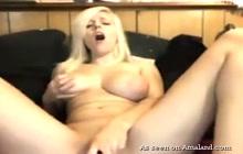 Busty Blonde Private Masturbation On Webcam