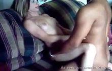 Petite Chick Creaming All Over Big Black Cock